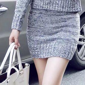 Dresses & Skirts - Crochet knit grey skirt